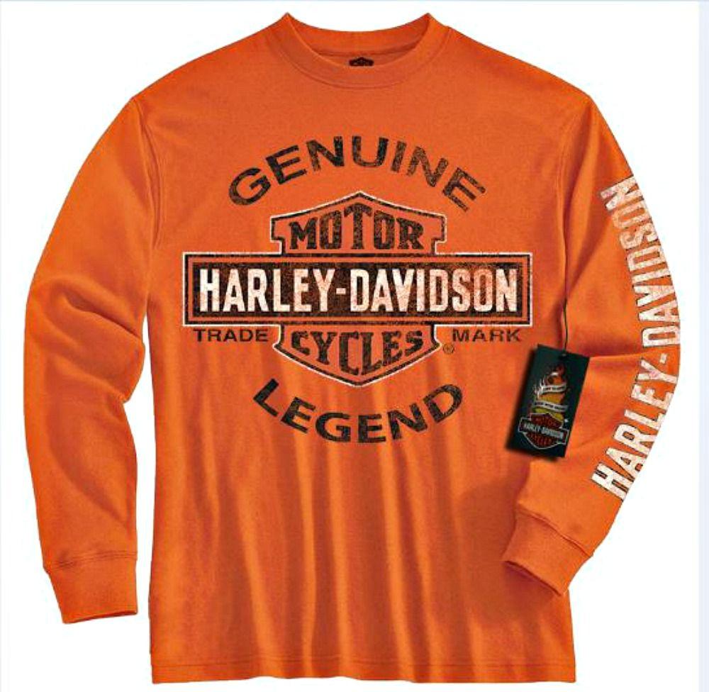 Harley Davidson Boys Genuine Legend T Shirt Harley Davidson Kids Harley Davidson T Shirts Boys Long Sleeve