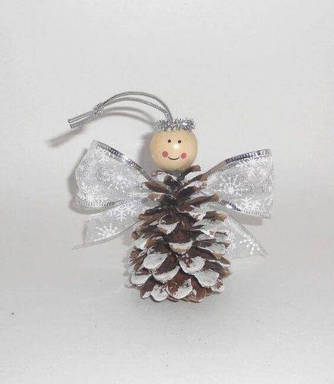 Zauberhafte kleine Weihnachtsengel basteln - Über 20 DIY Bastelideen #weihnachtsbastelnnaturmaterialien