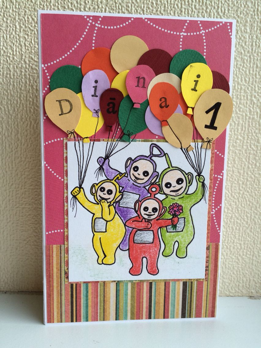 Birthday Card For Little Teletubbies Fan My Cards Kids Cards