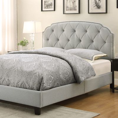 slate grey queen size button tufted upholstered bed is handcrafted for the ultimate in comfort and style this plush upholstered bed is generously padded