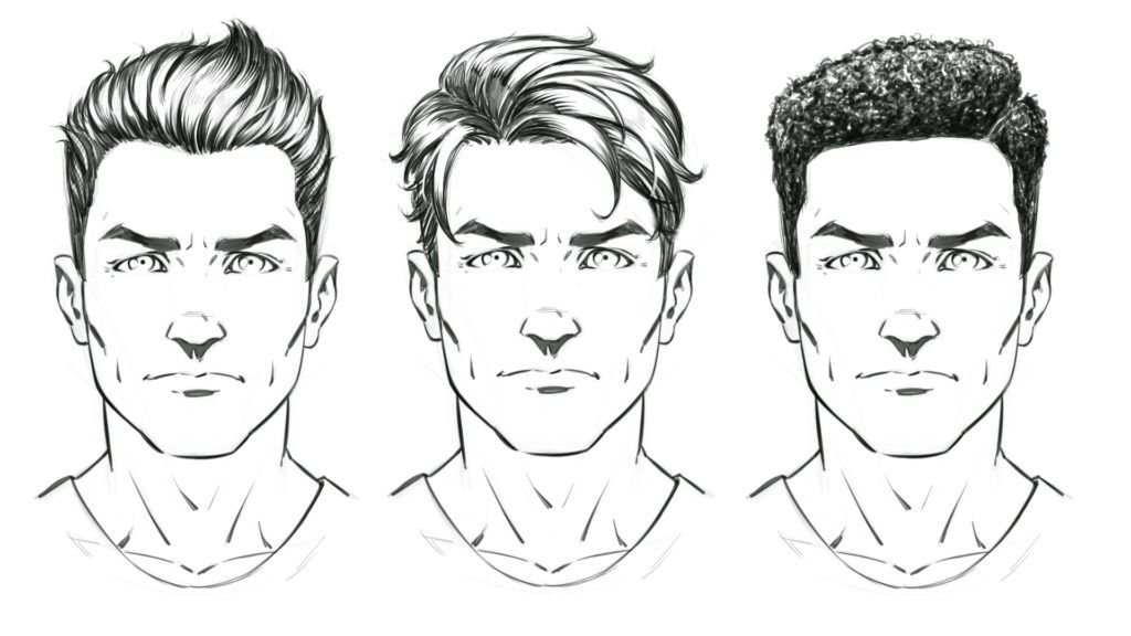 How To Draw Comic Style Hair Male Comic Drawing Guy Drawing Comic Book Drawing
