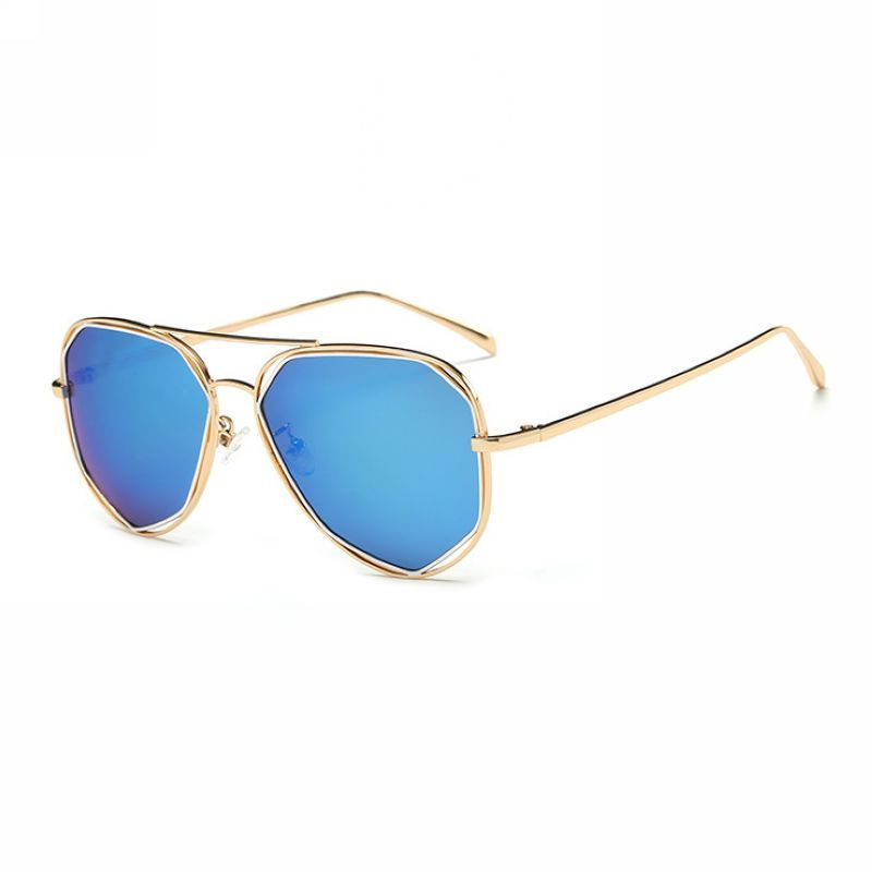 ffb7a6e3c0 Kids Polarized Pilot Geometric Sunglasses Gold Blue