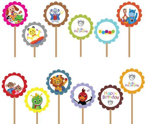 Baby Einstein- Printable DIY Custom Party Circle Cupcake Topper ...