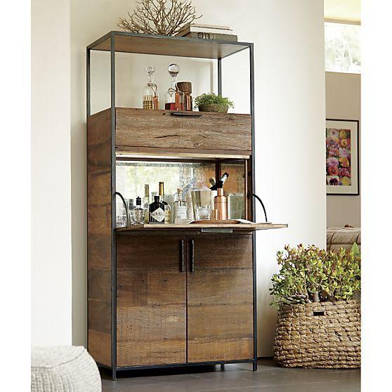 Mini Bar Cabinets: Clive Bar Cabinet - Crate And Barrel