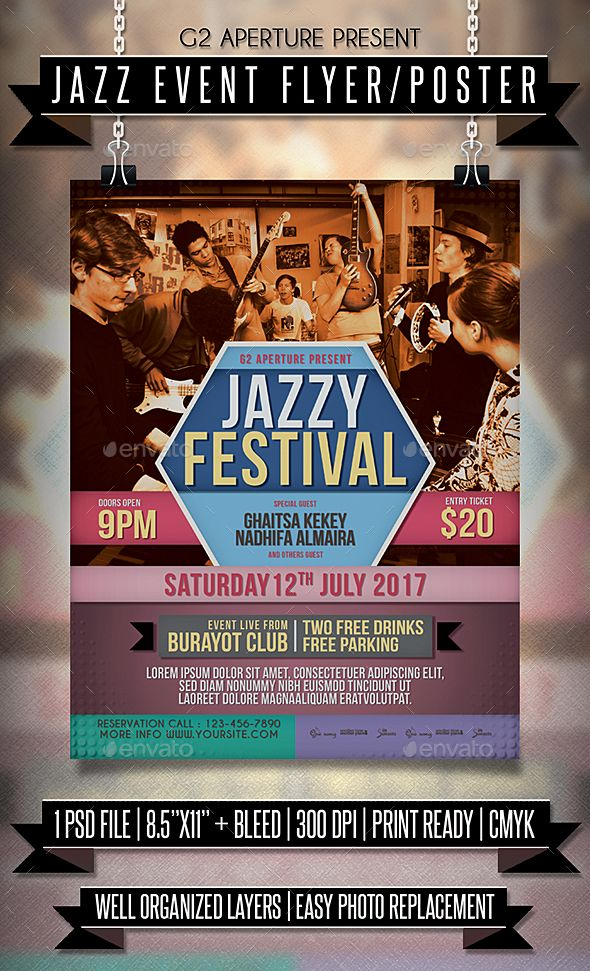 Jazz Event Flyer  Poster  Event Flyers Flyer Template And Event