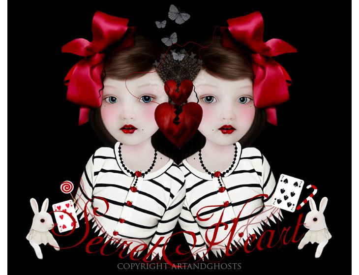 """Secret Hearts"" by Louise Robinson (aka Art & Ghosts)"