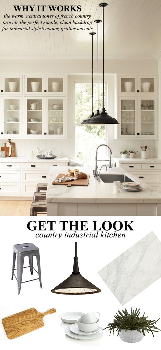 Nice French Industrial Country Kitchen
