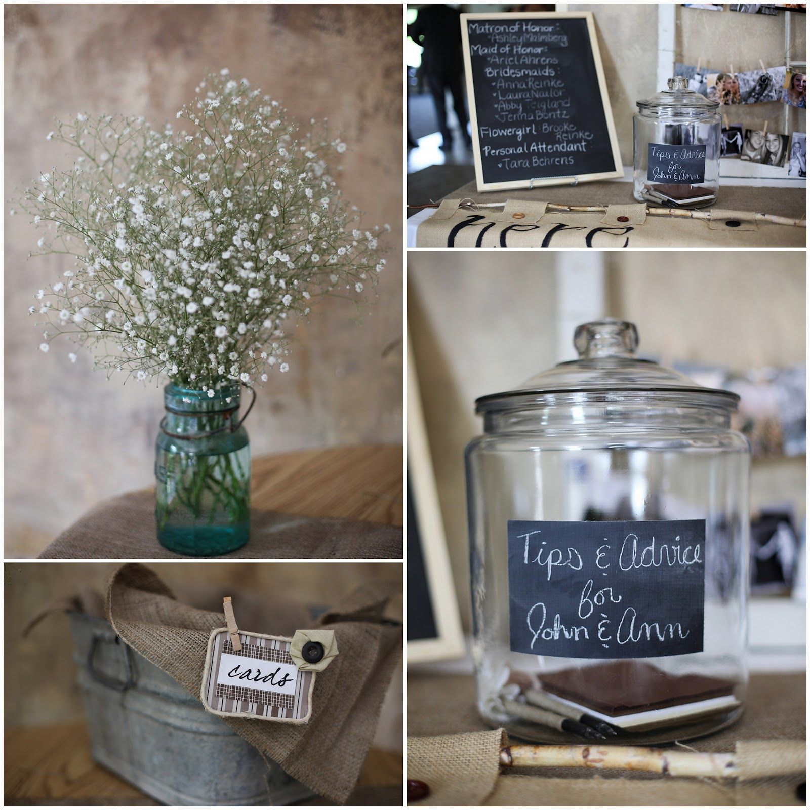 Fall Vintage Wedding Ideas: Vintage Centerpiece Mason Jars