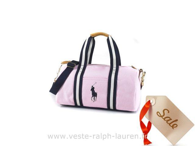 2704dc4ae3f7 boutique Officielle polo Ralph Lauren sac le fourre tout mode mode pink Sac  Polochon Cuir