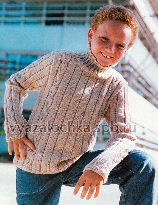 Схема вязания свитера на мальчика 6 лет