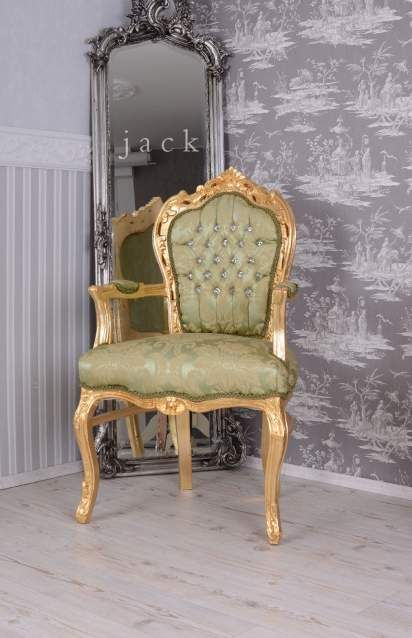 Armlehnstuhl stile antico poltrona stile barocco | Stile Barocco ...