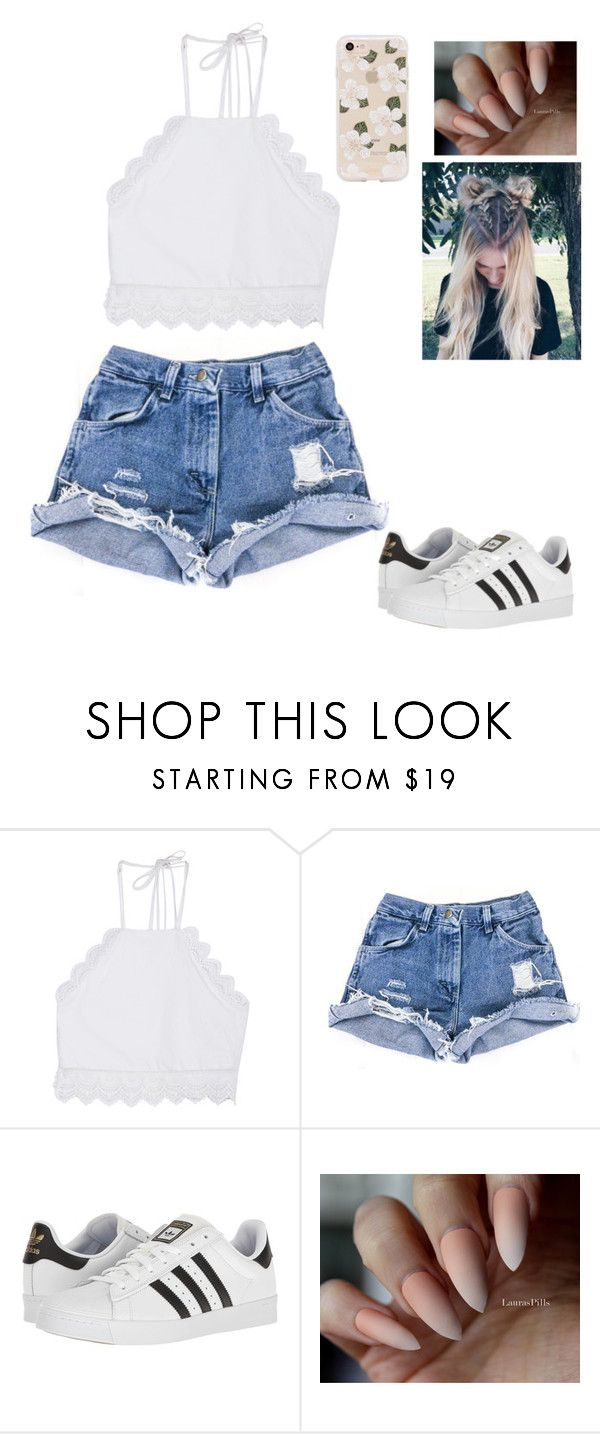 """""""aesthetic"""" by llacii ❤ liked on Polyvore featuring Front Row Shop, adidas and Sonix"""