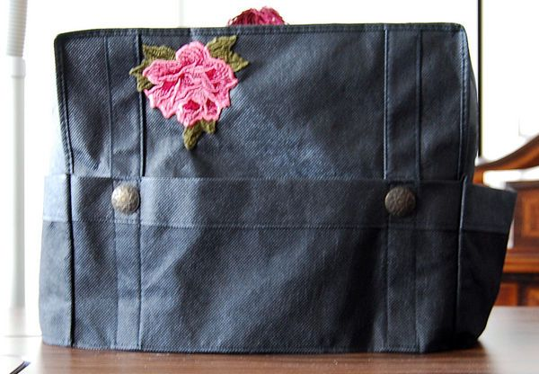 Sewing machine cover made from grocery bag!