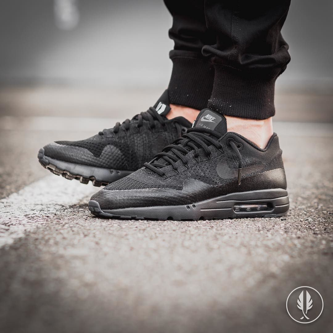 low price nike air max 1 ultra flyknit all black 79682 b27bf