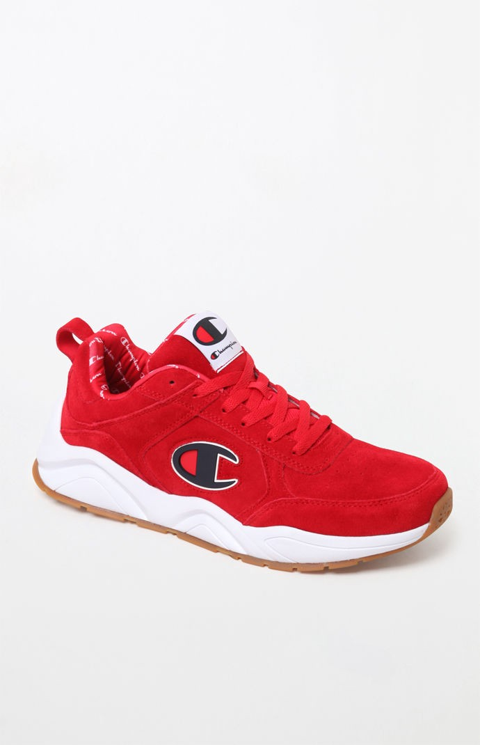 Champion 93Eighteen Suede Shoes - Red