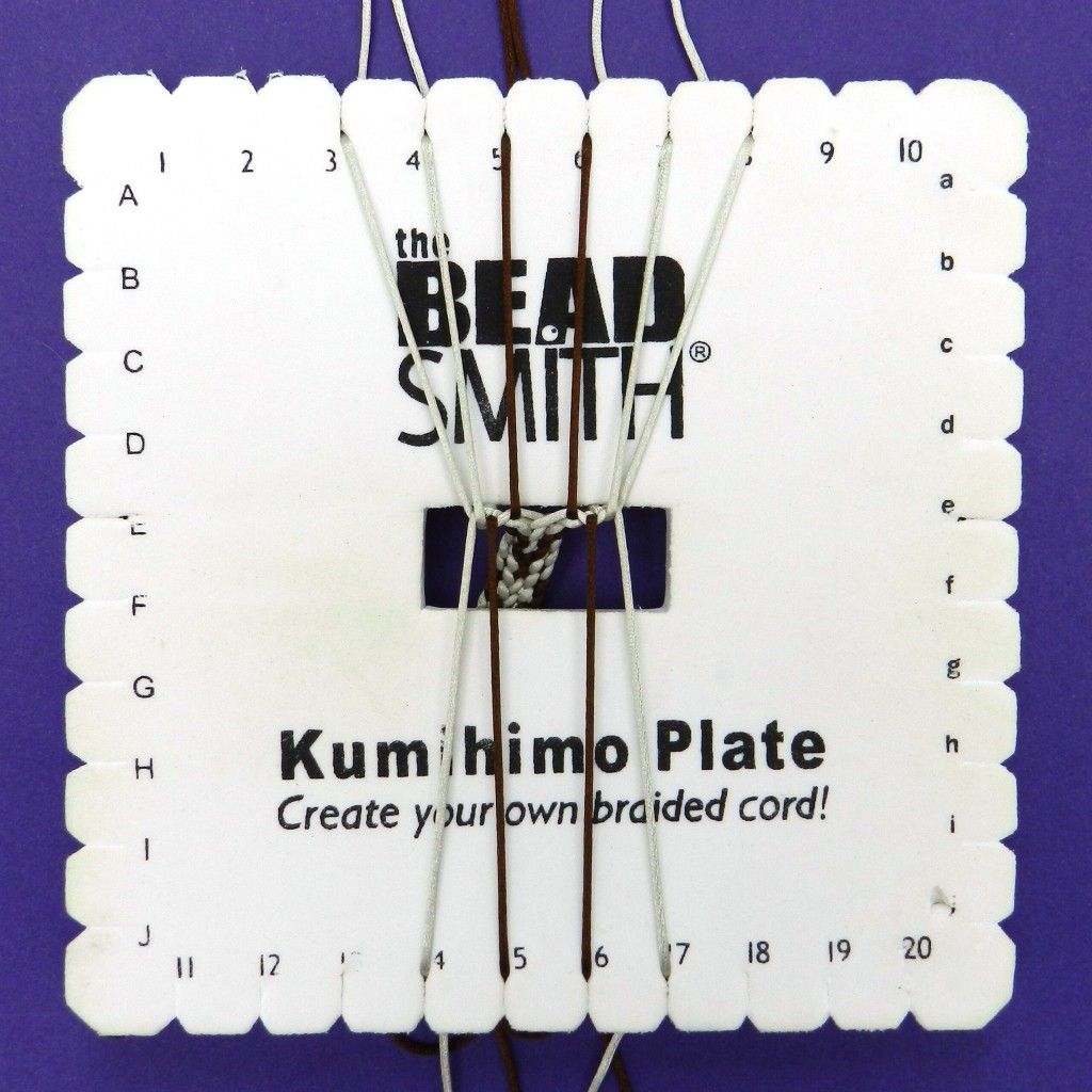 Kumihimo Square Plate Instructions By Embroidery Floss