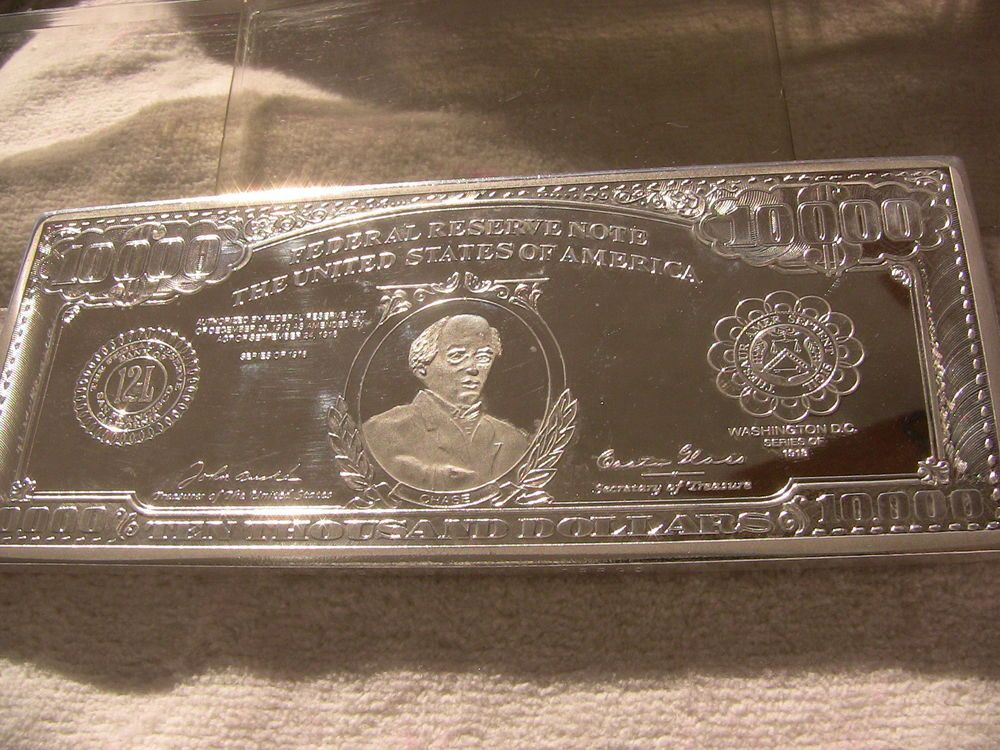 10 000 Dollar 1 Troy Pound Bar Silver 05539 Not Enough To Make A Dent In The National Debt But Would Be Great If This Was All The Nationa Troy Dollar Pound