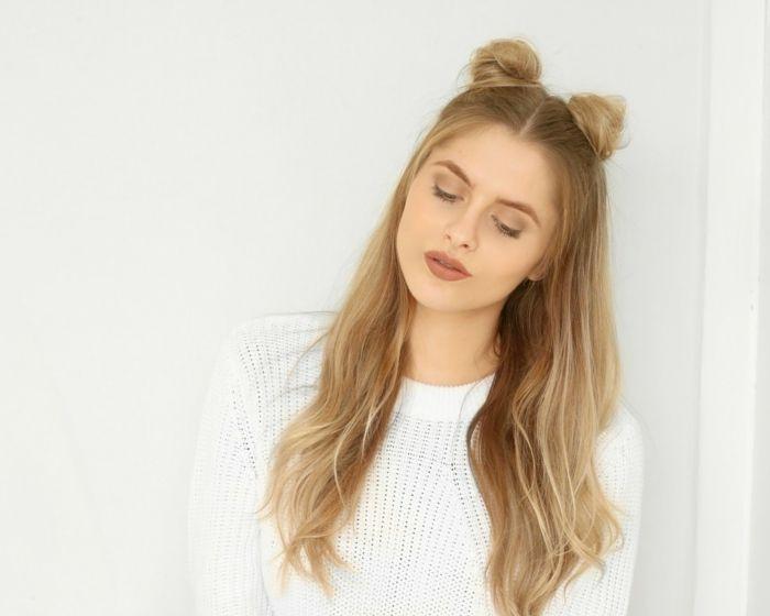 Frisuren fur lange haare mittelscheitel