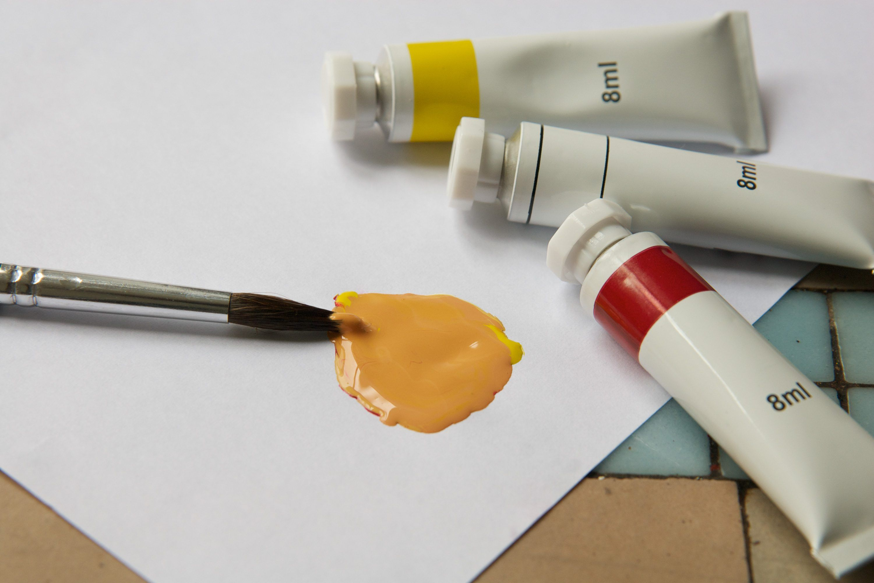 How To Make The Color Yellow Darker Ehow Mustard Yellow Paints Yellow Painting Mixing Paint Colors