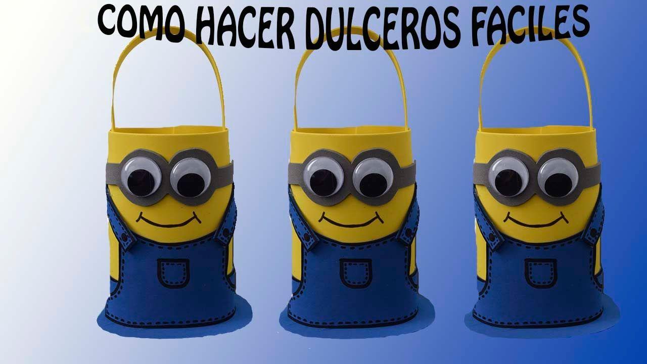 f09e55bb6 DULCERO MINNIONS FACIL/ COTILLON DE FOAMI Dulceros De Minions, Cumple  Minions, Cotillones Para