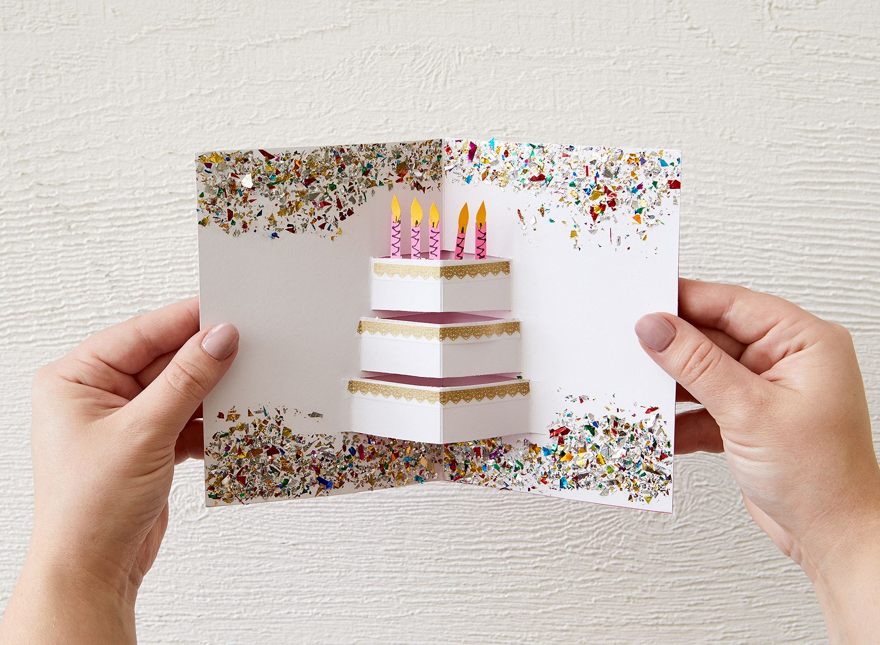 DIY Glitter PopUp Birthday Card of Your Dreams Homemade