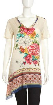 104538f6984 Ivory Floral Silk Tunic | Clothes Junkie! | Pinterest | Tunic ...