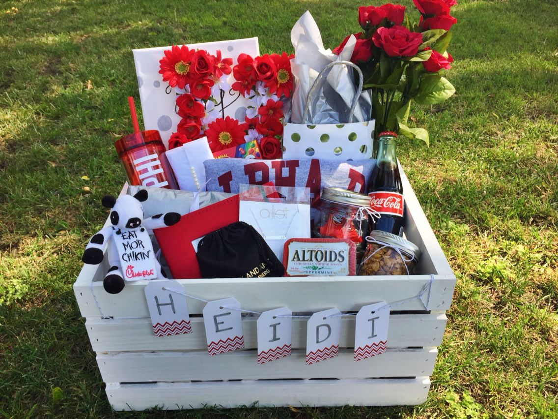 Cute Alpha Phi Big And Little Sorority Basket With Images