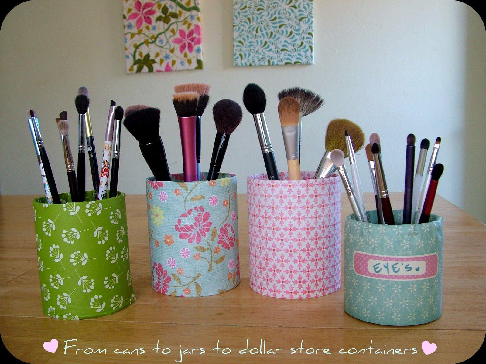 1 Cute Makeup Brush Holders Tutorial Diy Makeup Storage Box