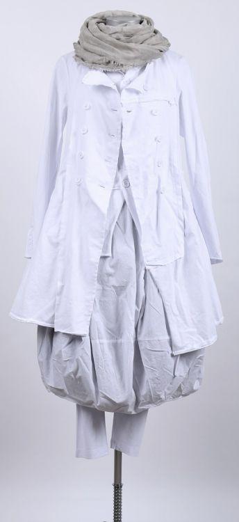 rundholz black label - Ballonkleid Sweater Stoff Mix white - Sommer ...