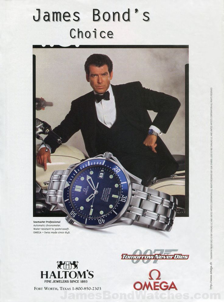 Omega James Bond Watch Ad Tomorrow Never Dies Pierce Brosnan