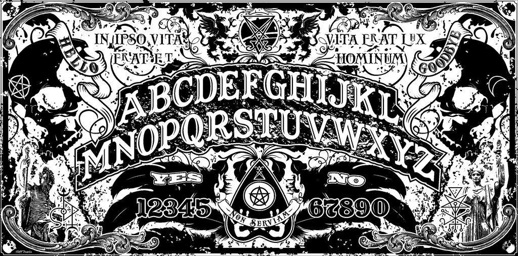 ouija board wallpaper | ouija board art print non serviam