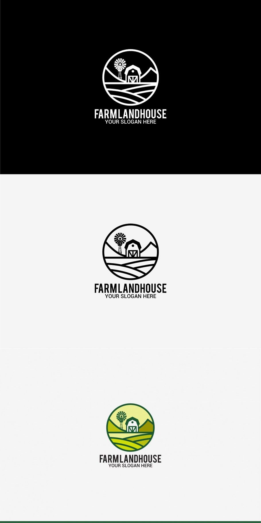 Farm land house in 2020 Logo templates, Font names