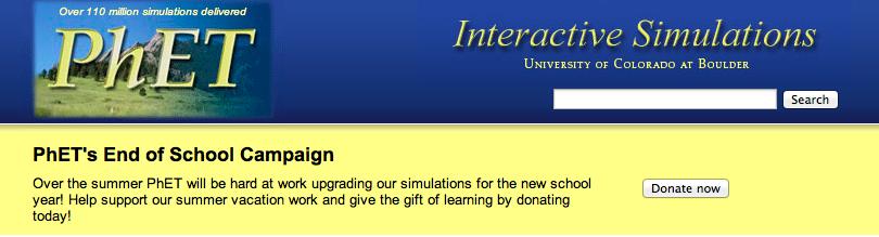 PhET interactive resources