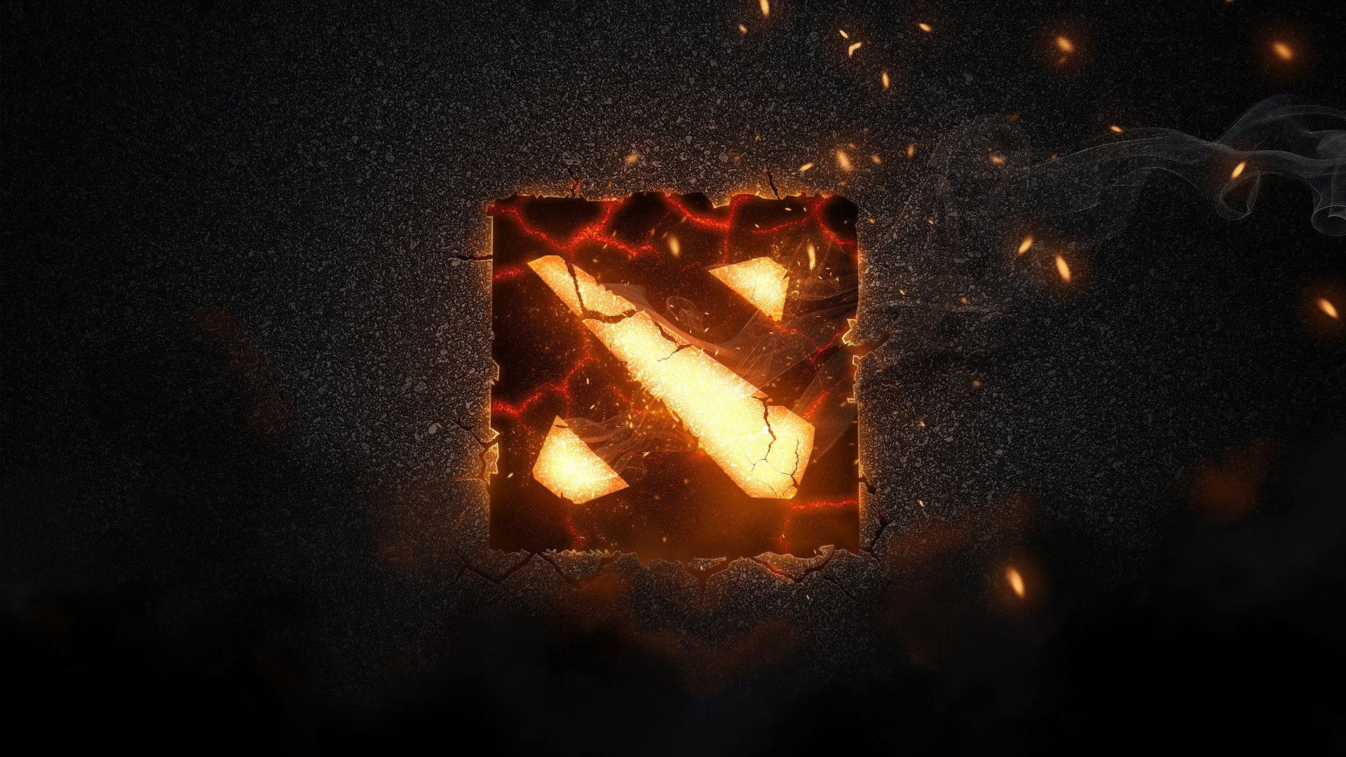 Hd wallpaper dota 2 - Dota 2 Logo Flaming Wallpaper Hd Picture Game