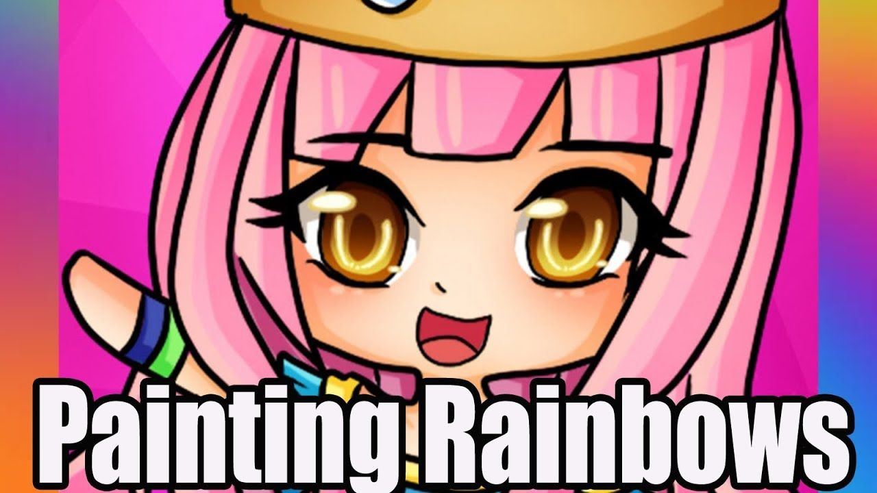 Painting Rainbows Funko Pop Oc Itsfunneh Youtuber Funneh Cute Youtubers Painting Rainbow