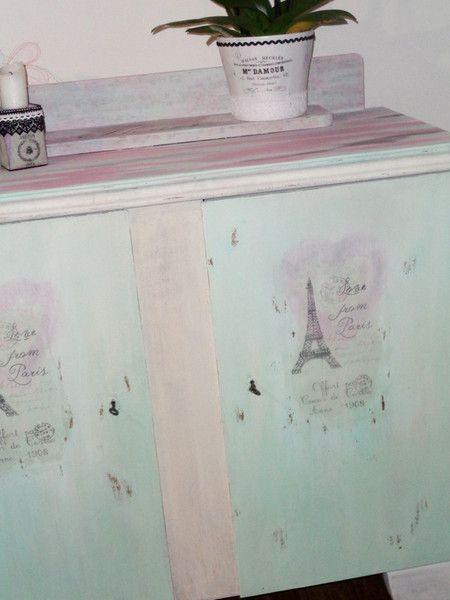 Vintage Kommode Schrank SHABBY Romantisch Paris | Shabby