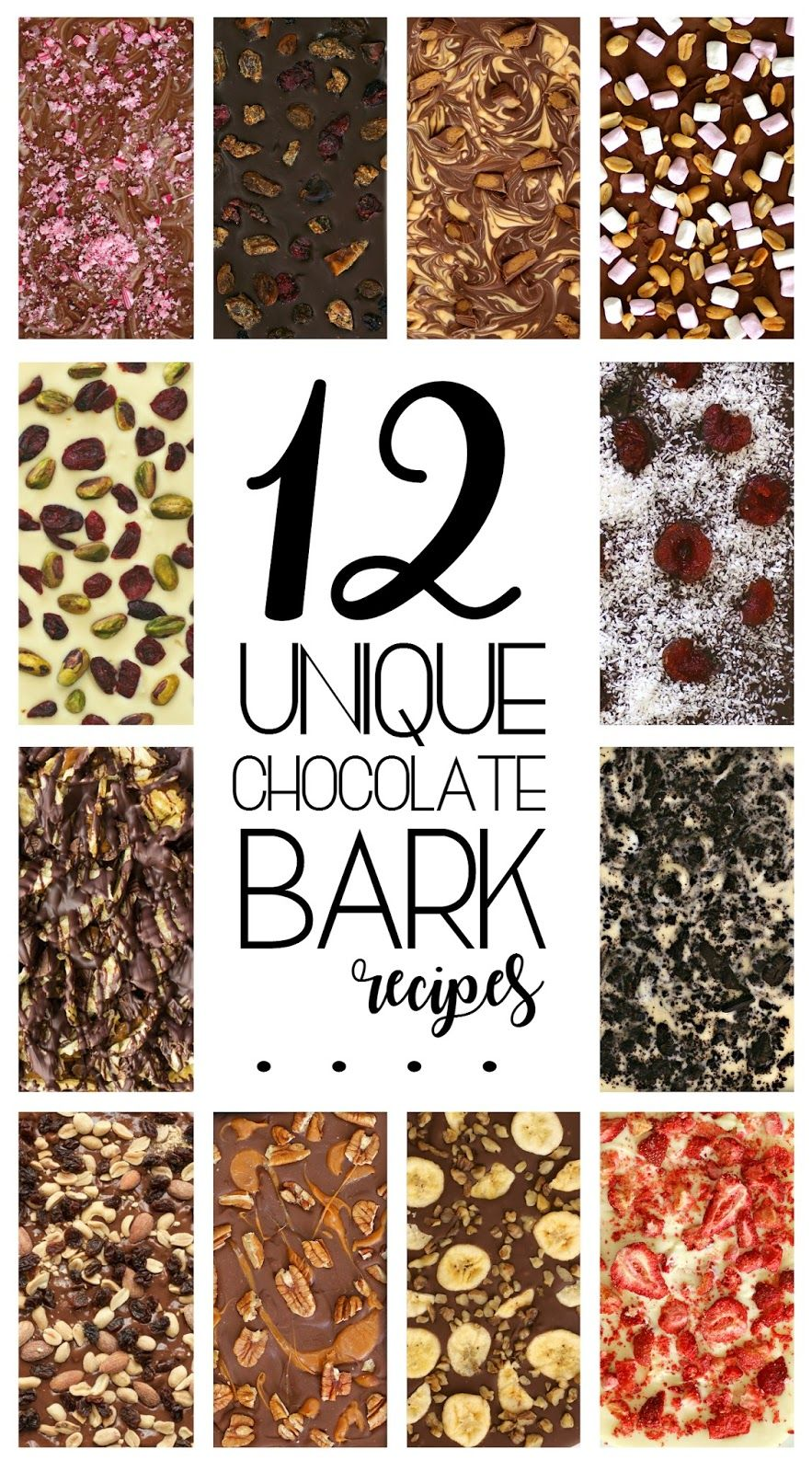 How to make chocolate bark candy xmas ideas xmas gifts and food 12 unique chocolate bark recipes for christmas gifting negle Image collections
