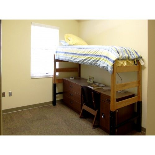 Loft Your Bed Maximize Your Space Order A Bed Loft And Bed Rail For Your Dorm Room At Samford Alabama Auburn And Monteva Bed Dorm Rooms College Dorm Rooms
