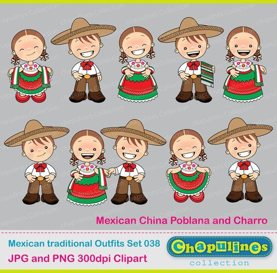2353b388b4 60% off Mexican Outfits Clipart China Poblana and Charro