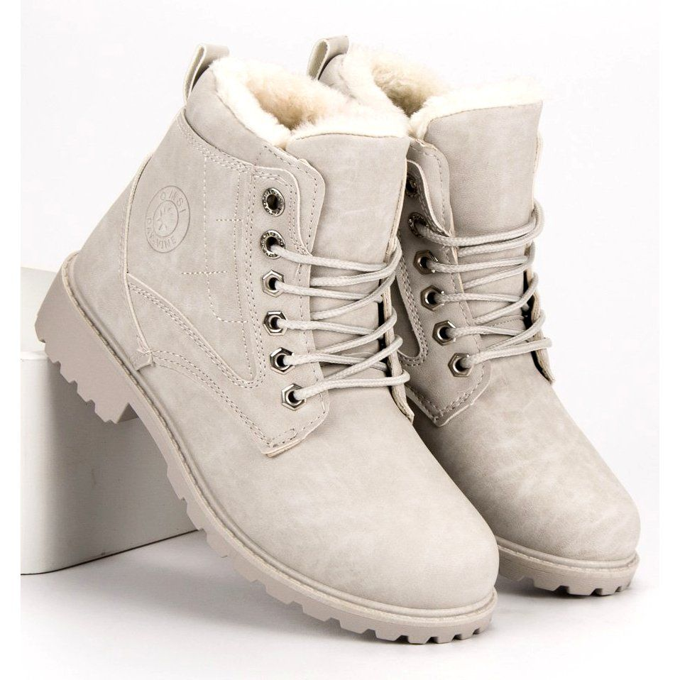 Klasyczne Szare Trapery Timberland Boots Boots Shoes