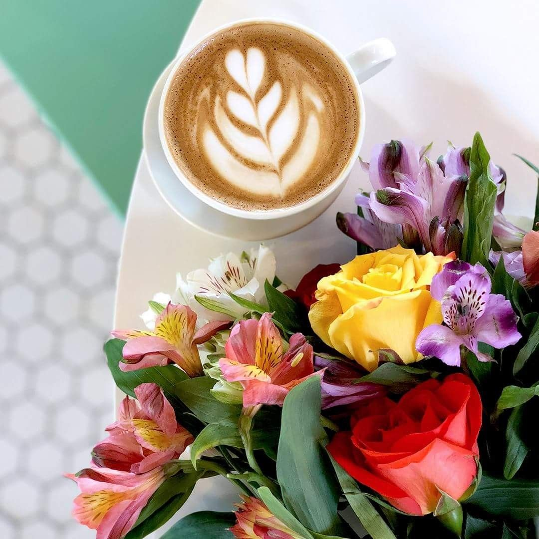 Take a shot of coffee and flowers today. \u2615 # ...