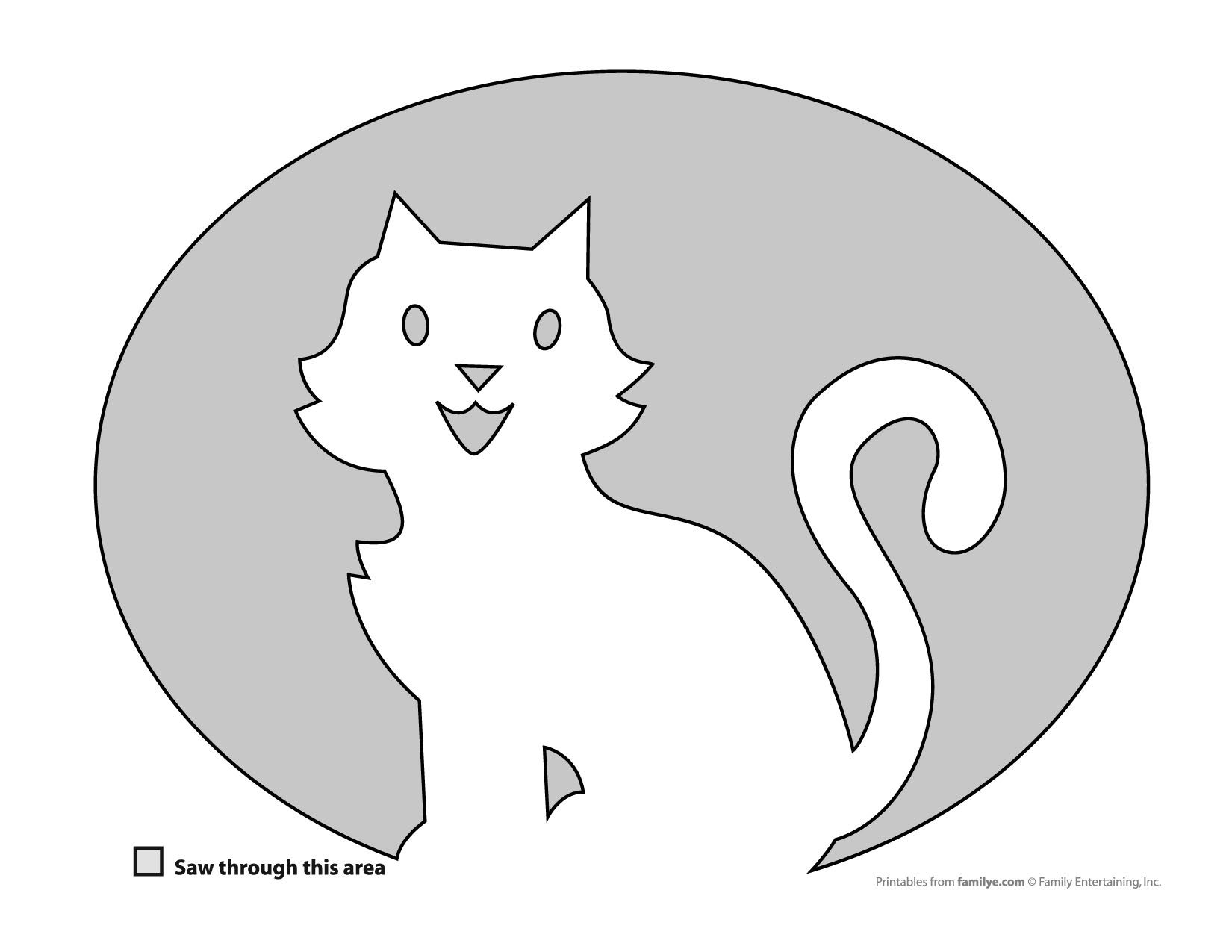 Uncategorized Cat Stencils Printable free pumpkin carving stencils cat for carving