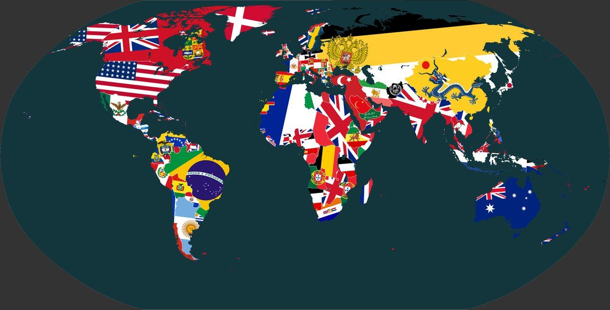 World map made of flags 1914 maps pinterest world map made of flags 1914 gumiabroncs Images