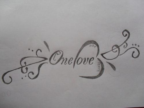 One Love One Heart Tattoo Design Heart Tattoo Rasta Tattoo Heart Tattoo Designs