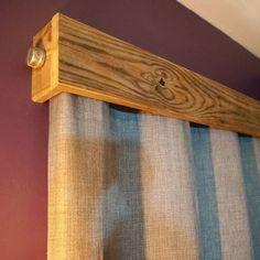 Quick Pallet Wood Window Valances | Wood valances for ...