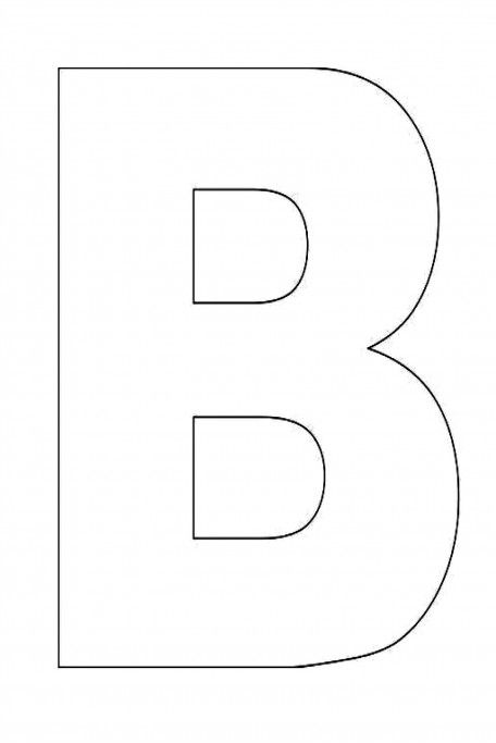 Alphabet letter b template for kids alphabet pinterest for Large letter c template