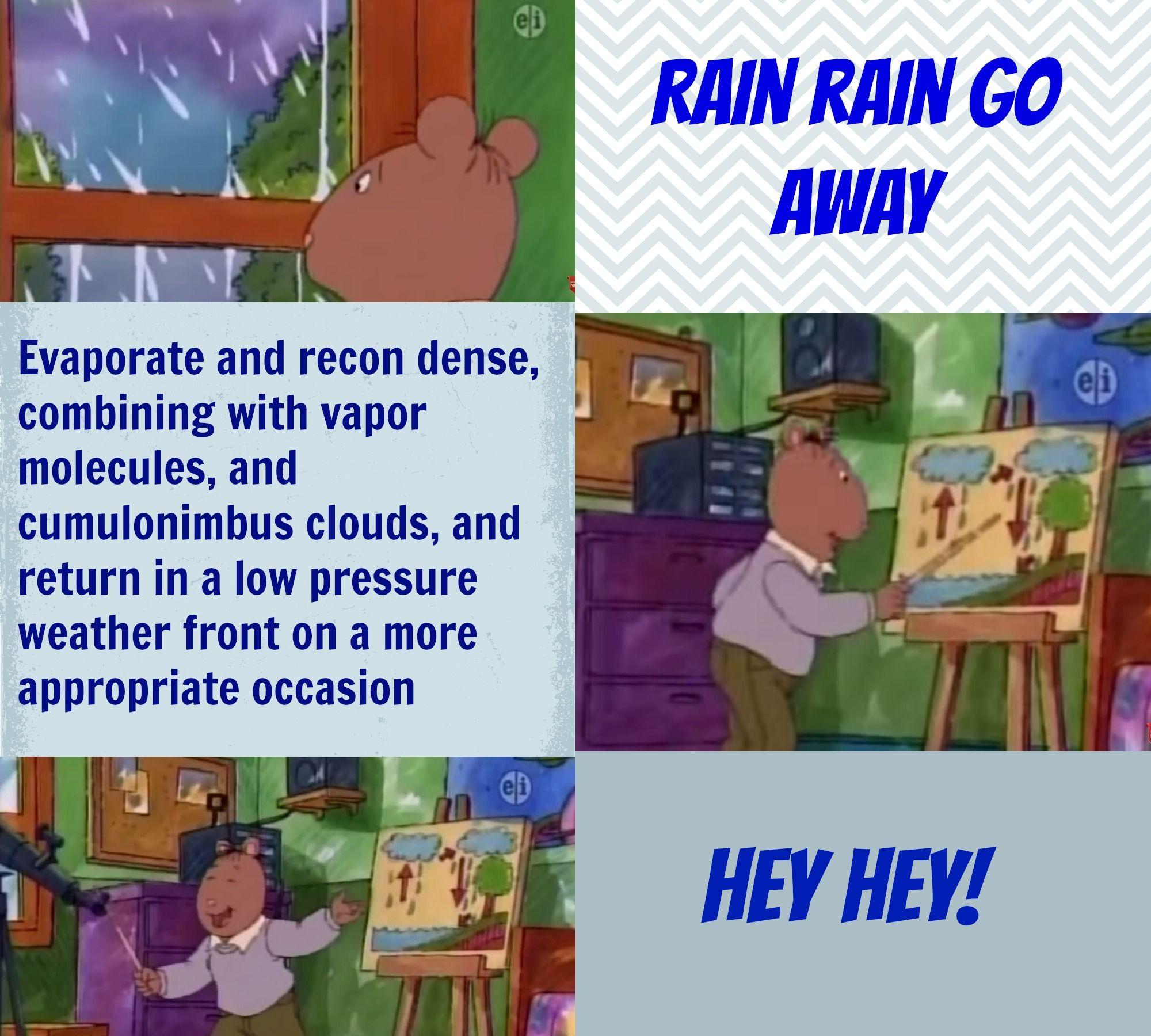 Arthur Brains Version Of Rain Rain Go Away Arthur Tv Show Kids Shows Arthur Read
