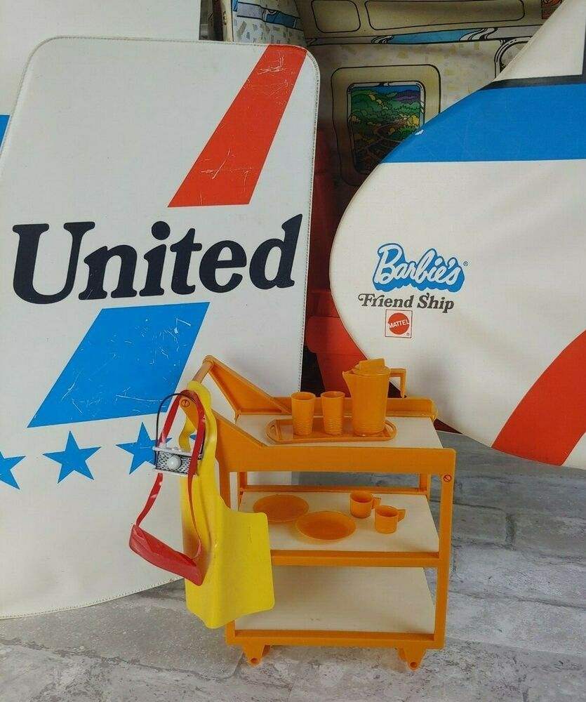 Vtg 1972 Barbie S Friend Ship United Airlines Airplane