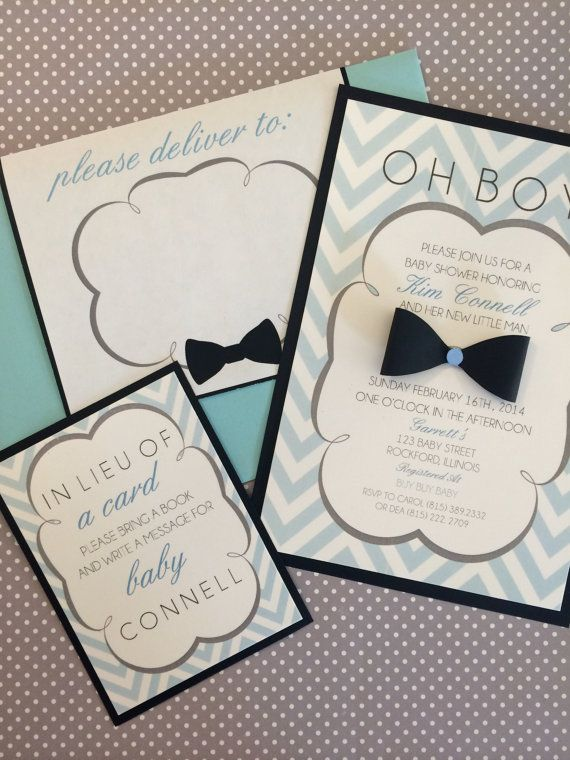 custom 3d oh boy baby shower invitation on etsy, $10.00 | shower, Baby shower invitations