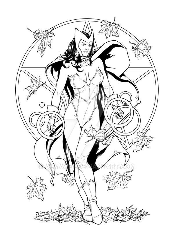 Scarlet Witch - Ink by Almayer.deviantart.com on @DeviantArt